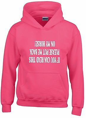 If You Can Read This Please Put Me Back On My Horse~Funny Horse Childs Hoodie