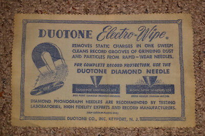 Vintage Cleaning Cloth DUOTONE ELECTRO-WIPE Records Static