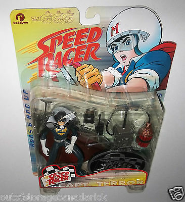 Speed Racer Capt. Terror Action Figure Series One 1999 Resaurus MOC - NEW