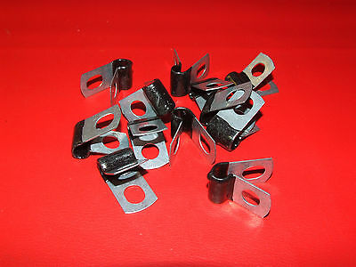 "1/4"" Insulated Hose Line Clamps Brake Line Clamps Closed Clamps Brake Lines (12)"