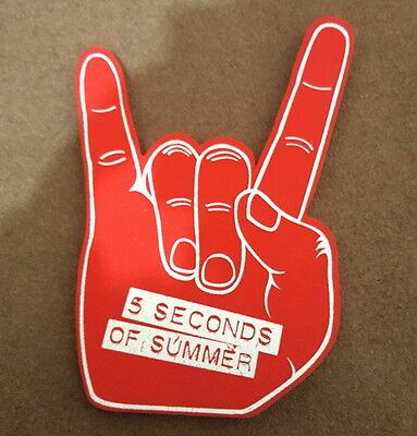 5 Seconds Of Summer Printed Foam Rock Hand Red Official 5Sos Merch Rare Genuine