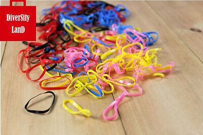 100 x rubber bands Rubber Hairband  Elastic Hair Band