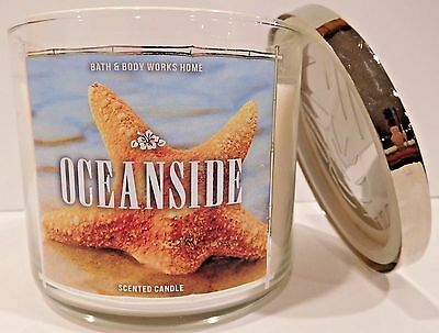 Bath & Body Works Oceanside Scented Candle 3 Wick 14.5 Oz New!