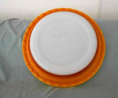 Vintage Pyrex, Milk Glass - Pie Dish - 26cm Roccoco Great condition