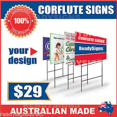 Custom Corflute Signs 900mm x 600mm x 5mm  - Australian Made