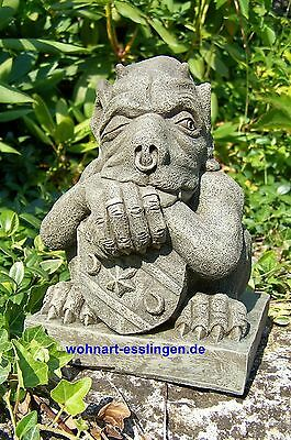 DS58s mini großer Shield Gargoyle Steinfigur orginal Devonshire Statuary