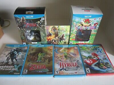 5 Wii U Lot New,Zelda Twilight Princess,Mario Party 10,Kart 8,Hyrule Warriors, +