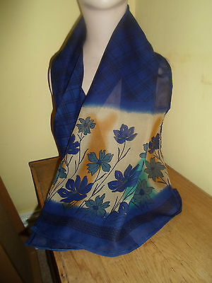 6 NEW Colourful Pretty Mixed Fibre Scarves Asian Pakistani Short Duppata  #3