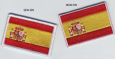 Embroidered Badge Patch Spain Spanish Flag 65mm x 44mm