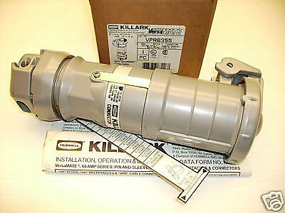 **NEW IN BOX*** KILLARK/HUBBELL VPR6355 60-Amp PIN&SLEEVE CONNECTOR  600V 60A