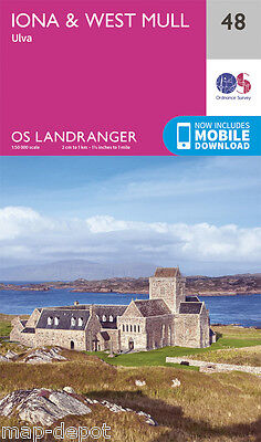 IONA & WEST MULL LANDRANGER MAP 48 - Ordnance Survey - OS - NEW 2016 + DOWNLOAD