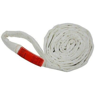 8Ft Endless White Round Sling 17000LB Vertical