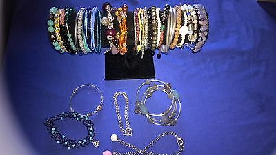 Bulk lot of costume jewellery bangles bracelets great for resell markets lot #3