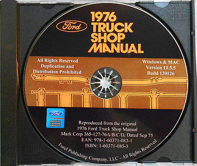 1976 Ford Truck Shop Manual (CD-ROM)