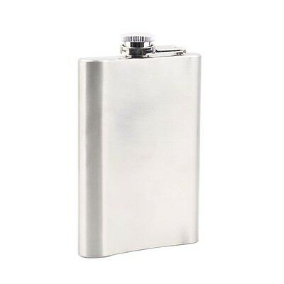 6oz Stainless Steel Liquor Hip Pocket Flask for Alcohol Whiskey Whisky AU
