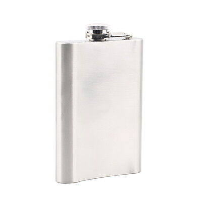 8oz Stainless Steel Liquor Hip Pocket Flask for Alcohol Whiskey Whisky AU