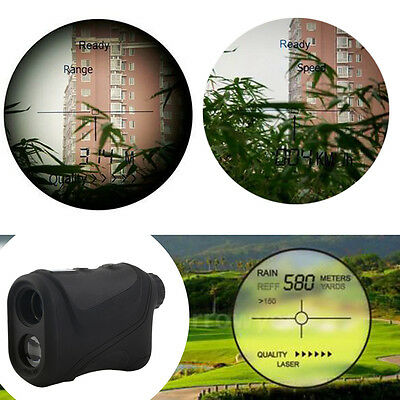 6x22mm Multifunction Laser Range Finder Telescope 600m Hunting Golf Distance AU
