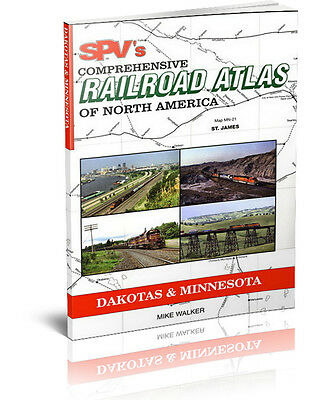 SPV Railroad Atlas Dakotas and Minnesota - New, Latest Edition, Railroad Maps