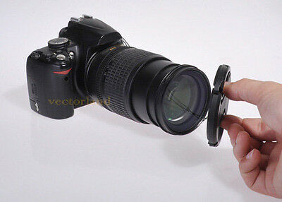 72mm Center Pinch Snap on Front Lens Cap Cover for Nikon Canon Sony DSLR camera