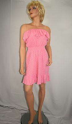 New Nwt Lilly Pulitzer Vinita Fluorescent Pink Cotton Strapless Dress Size S