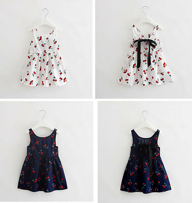 Summer Baby Girl Clothes Newborn Toddler Cotton Sleeveless Dress Outfits Skirt