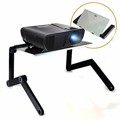 QuickLift LCD / DLP Projector Stand DJ Presentation Mount with Vented Aluminum /