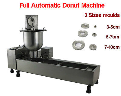 Automatic donut maker,donut making frying machine with 3 sizes moulds,counter