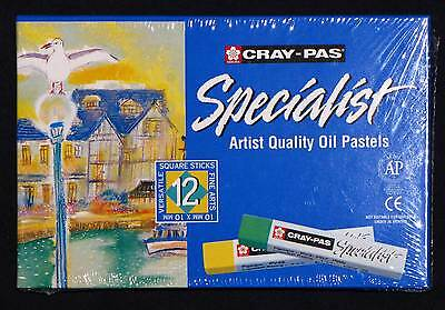 12 Artists Oil Pastels Cray-Pas Sakura drawing painting Premium Art Materials