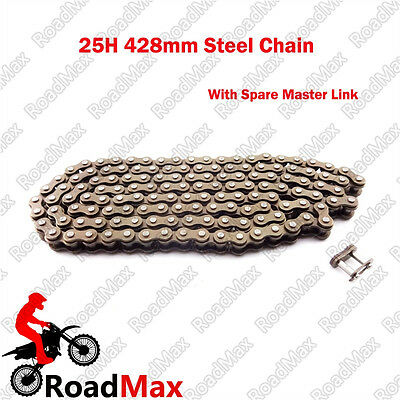 25H 428mm Chain W/ Spare Master Link 47 49cc Mini Moto Pit Dirt ATV Pocket Bike