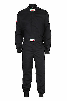 STR Race Overalls / Suit Racing SFI Approved 3-2A/1 Standard BLACK LARGE SALE