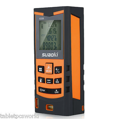 Suaoki 100m/328ft Digital Laser Distance Meter Range Finder Measure Diastimeter