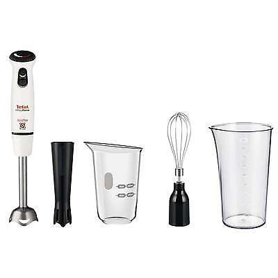 Tefal HB864140 Infinity Force Hand Blender with Sauce Attachment in White