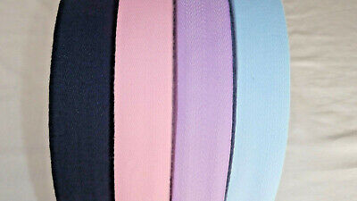 38mm wide Acrylic Twill/Apron/Edging/Binding Tape BABY BLUE, PINK, LILAC