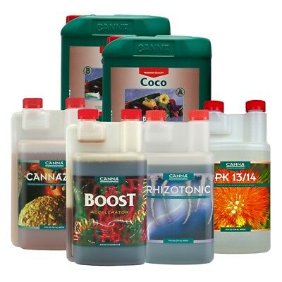 Canna Nutrients Boost PK Coco Cannazym Flores Rhizotonic Vega Flowering Bud Veg