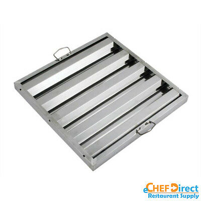 """Box of 6 Hood Filter/Grease Baffle 20""""W x 20""""H Stainless Steel Commercial Range"""