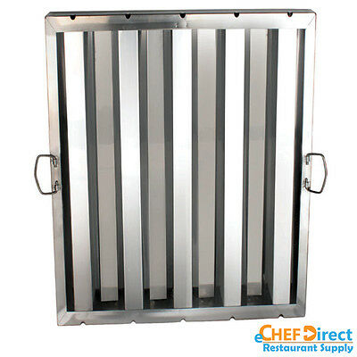 "Box of 6 Hood Filter/Grease Baffle 20""W X 25""H Stainless Steel Commercial Range"