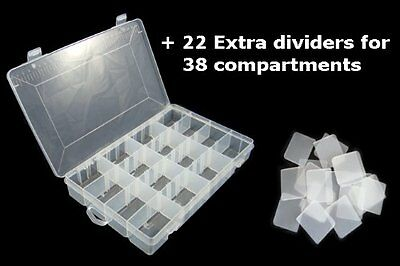 Plastic Divided Storage Organiser Tray Box Tub Case DIY Screws Nuts Bolts Sewing