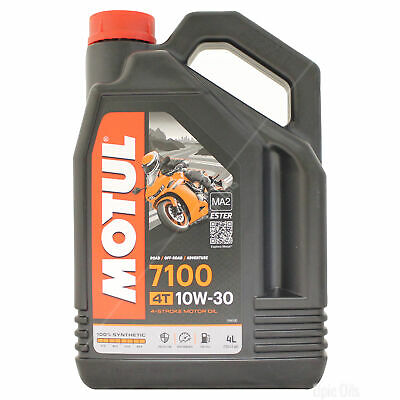 Motul 7100 4T 10w-30 Fully Synthetic Motorcycle Engine Oil - 4 Litres 4L