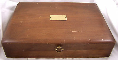 Naken's Silverware Chest Storage Box Flatware Tarnish Proof Vintage Wood