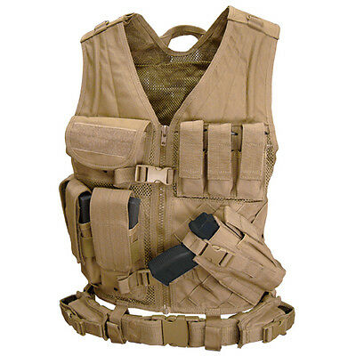 CONDOR CV: Crossdraw Assault Vest - Tan