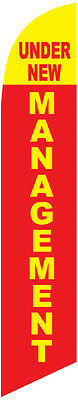 Under New Management 12ft Feather Banner Swooper Flag - FLAG ONLY