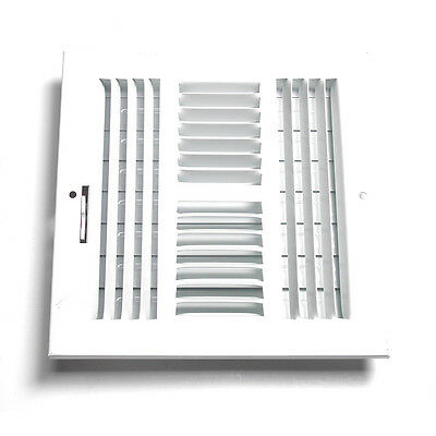 """Accord White Steel Sidewall/Ceiling Register Rough: 8"""" x 8""""; Actual 9.77 x 9.77"""""""