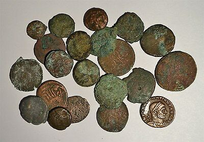 Ancient Roman Coins Lot Of 21