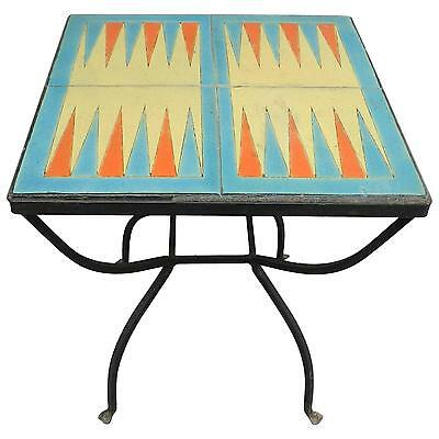 Catalina Tile Backgammon Table Very Fine And Ultra Rare! Buy It Now!!