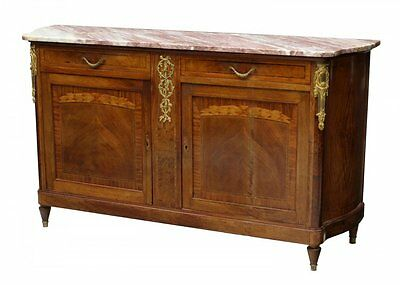 LOUIS XVI STYLE MARBLE TOP SIDEBOARD 19th Century 1800s
