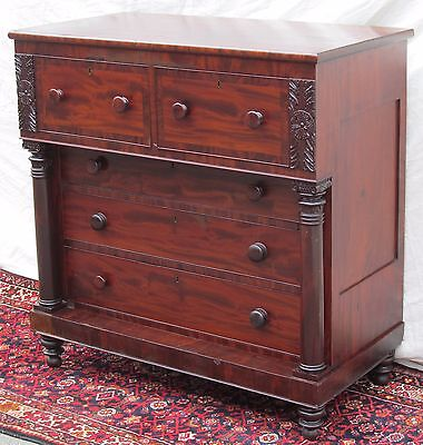 Important New York City Classical Federal Period Mahogany Tall Chest