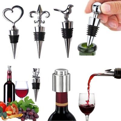 Stainless Steel Reusable Vacuum Sealed Red Wine Bottle Stopper Plug Favors Gifts