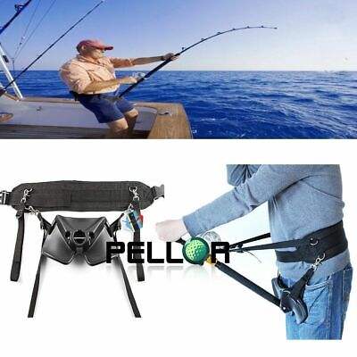 Pellor Sea Fishing Fighting Belt Offshore Fishing Harness Waist Rod Pole Holder