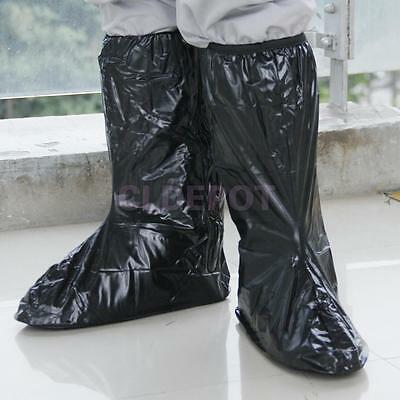 Waterproof Non-slip Shoes Covers Rain Boots Reflective for Motorcycle Outdoor XL