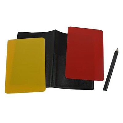 Referee Cards Volleyball Football Sport Wallet Score Notebook Pencil Set AU